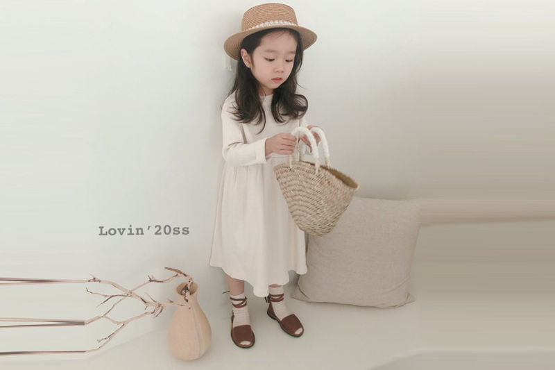 LOVIN - BRAND - Korean Children Fashion - #Kfashion4kids - Rib One-piece