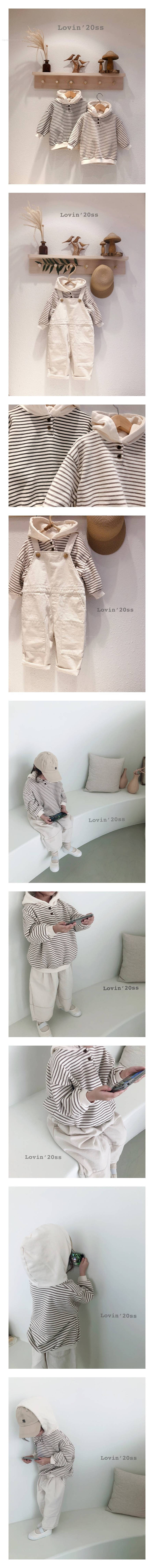 LOVIN - Korean Children Fashion - #Kfashion4kids - Stripe Hood MTM