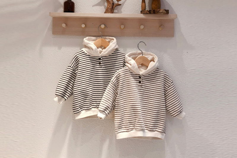 LOVIN - BRAND - Korean Children Fashion - #Kfashion4kids - Stripe Hood MTM