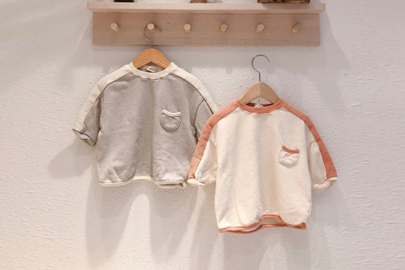 LOVIN - BRAND - Korean Children Fashion - #Kfashion4kids - Colored Line Tee