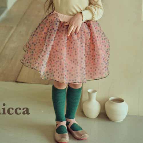 MICCA - BRAND - Korean Children Fashion - #Kfashion4kids - Bubble Cha Skirt