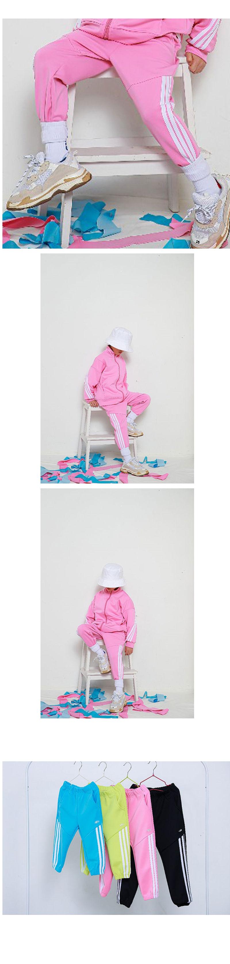 MINI CABINET - Korean Children Fashion - #Kfashion4kids - Thee Lines Pants