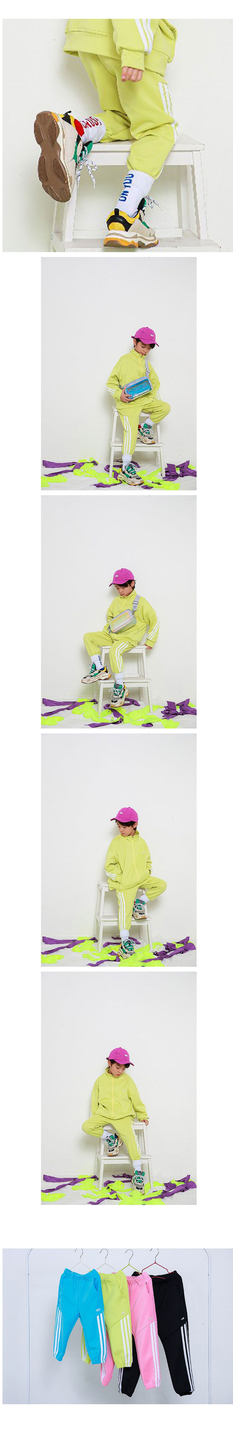 MINI CABINET - Korean Children Fashion - #Kfashion4kids - Thee Lines Pants - 3