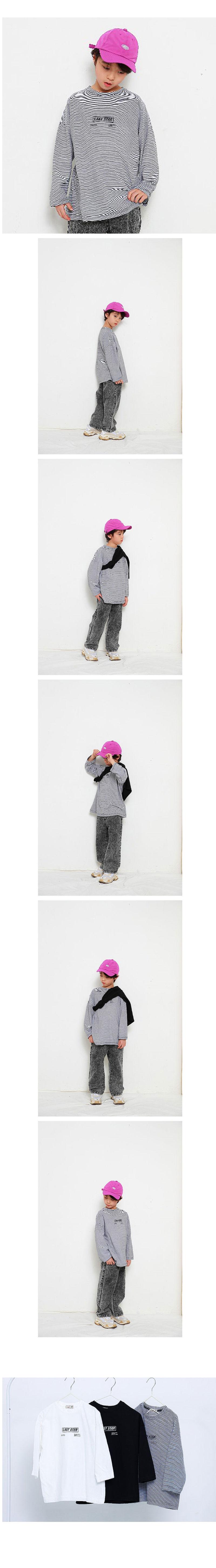MINI CABINET - Korean Children Fashion - #Kfashion4kids - Thin Line Tee