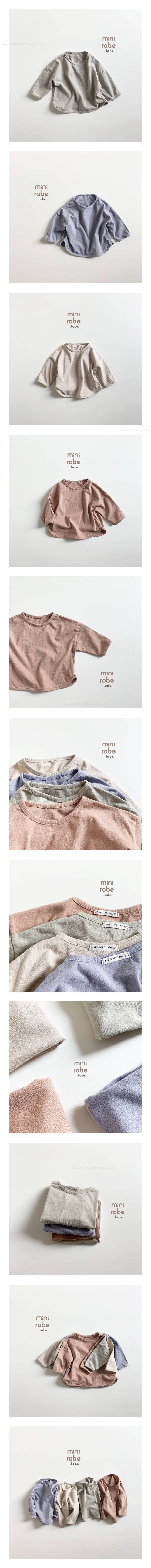 MINI ROBE - Korean Children Fashion - #Kfashion4kids - Soft Piping Tee