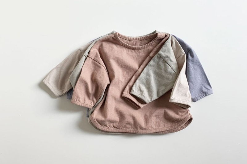 MINI ROBE - BRAND - Korean Children Fashion - #Kfashion4kids - Soft Piping Tee
