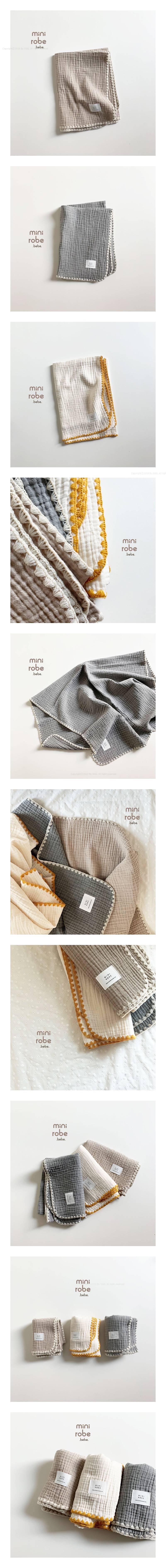 MINI ROBE - Korean Children Fashion - #Kfashion4kids - Muslin Blanket