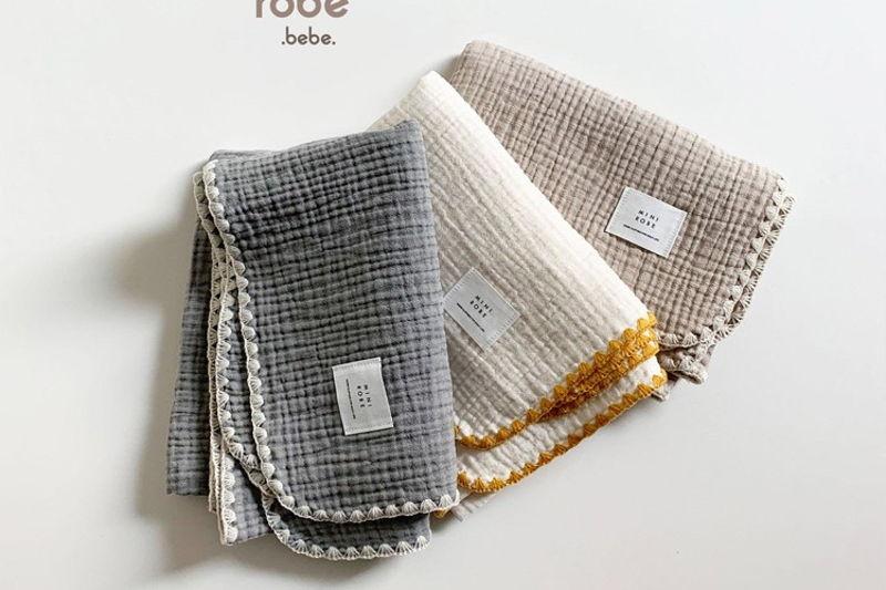 MINI ROBE - BRAND - Korean Children Fashion - #Kfashion4kids - Muslin Blanket