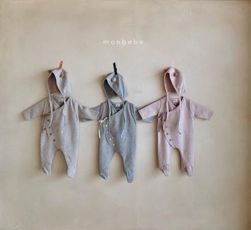 MONBEBE - BRAND - Korean Children Fashion - #Kfashion4kids - Stripe Ribbed Suit
