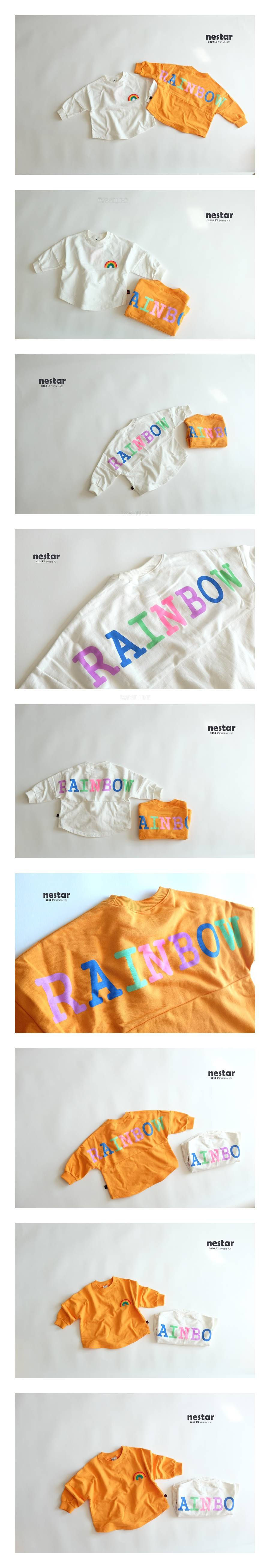 NESTAR - Korean Children Fashion - #Kfashion4kids - Rainbow T