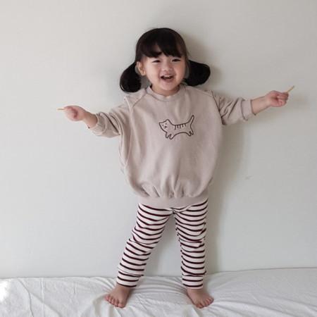 NUNUBIEL - BRAND - Korean Children Fashion - #Kfashion4kids - Cat MtoM Tee