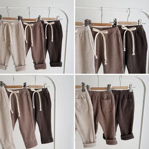 NUNUBIEL - Korean Children Fashion - #Kfashion4kids - Waffle Roll-up Pants - 4