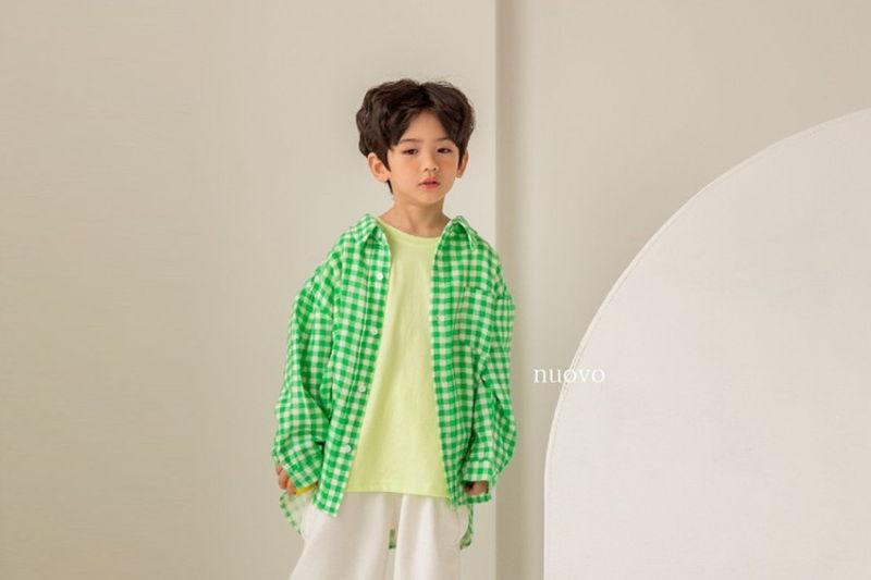 NUOVO - BRAND - Korean Children Fashion - #Kfashion4kids - Honey Check Shirts