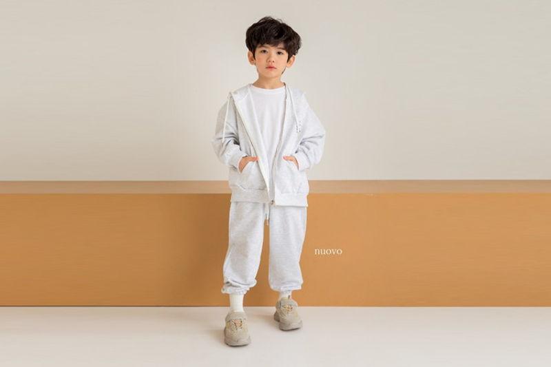 NUOVO - BRAND - Korean Children Fashion - #Kfashion4kids - Hood Zip-up Jacket Bottom Set