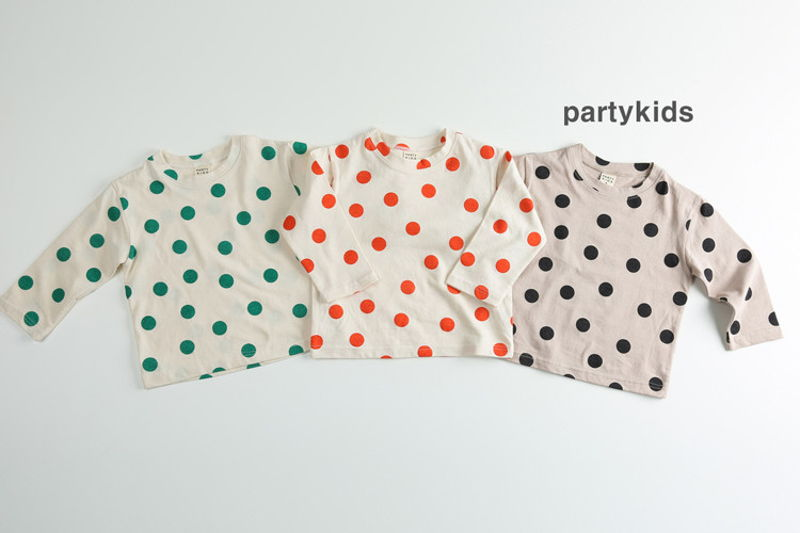 PARTY KIDS - BRAND - Korean Children Fashion - #Kfashion4kids - Dot Tee