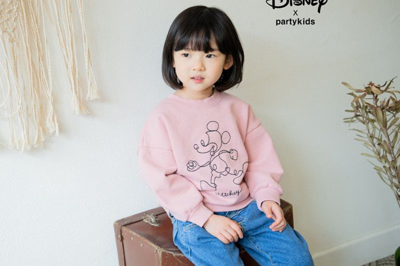 PARTY KIDS - BRAND - Korean Children Fashion - #Kfashion4kids - Running Mickey Mouse Tee
