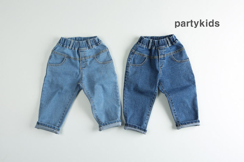 PARTY KIDS - BRAND - Korean Children Fashion - #Kfashion4kids - Denim Styling Pants