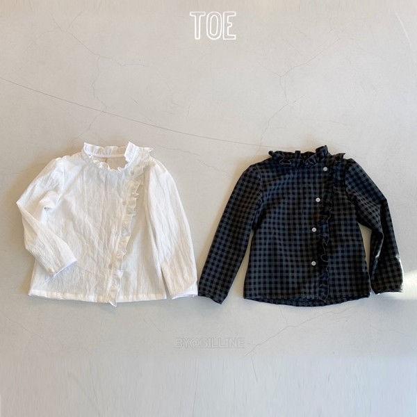 TOE - BRAND - Korean Children Fashion - #Kfashion4kids - Frill Button Blouse