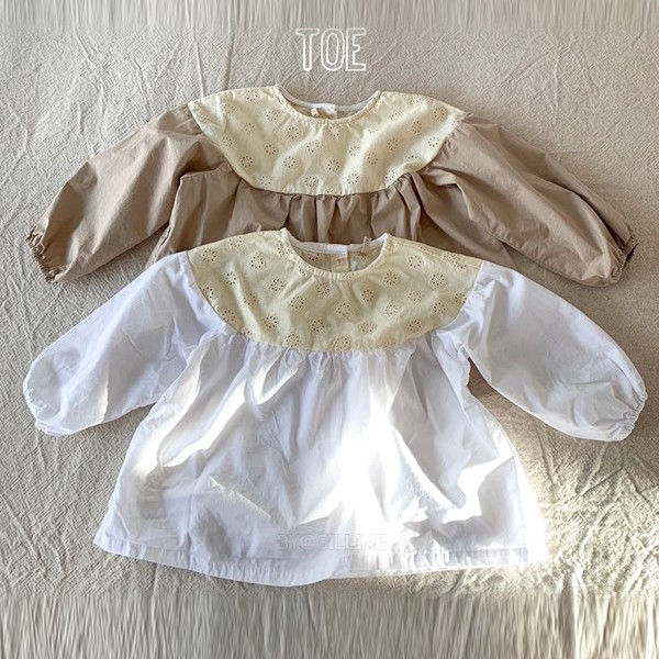 TOE - BRAND - Korean Children Fashion - #Kfashion4kids - Punching Balloon Blouse