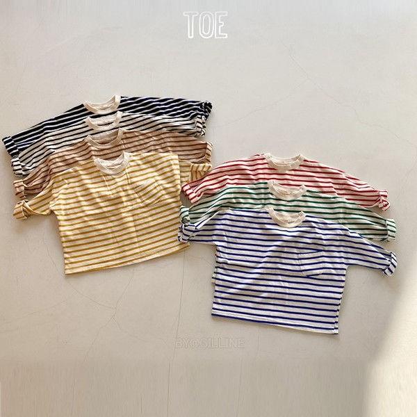 TOE - BRAND - Korean Children Fashion - #Kfashion4kids - New Stripe T