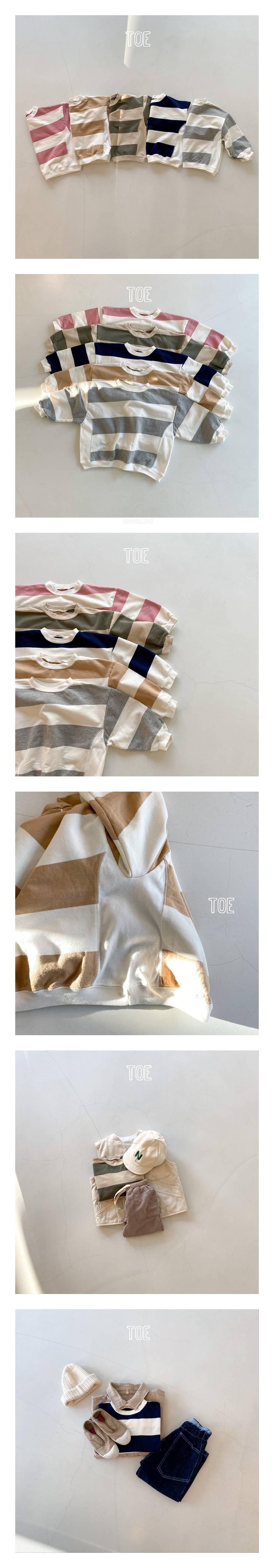 TOE - Korean Children Fashion - #Kfashion4kids - Bims Strip MtM T