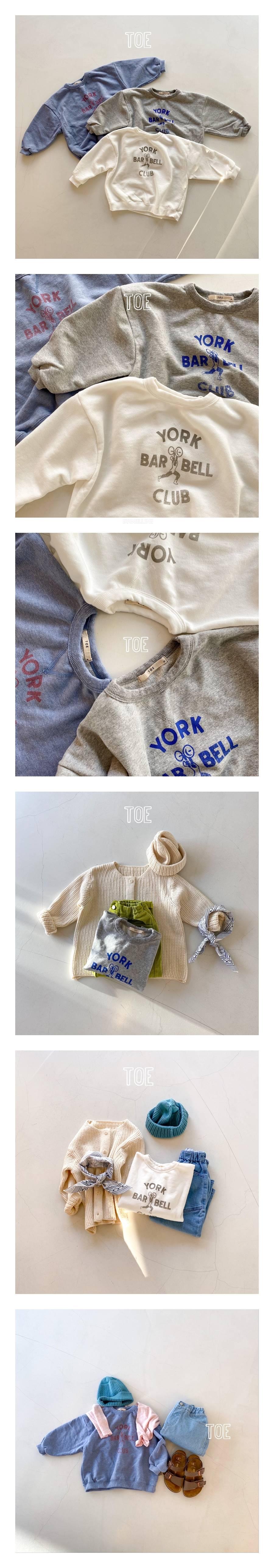 TOE - Korean Children Fashion - #Kfashion4kids - Barbell Man-To-Man T