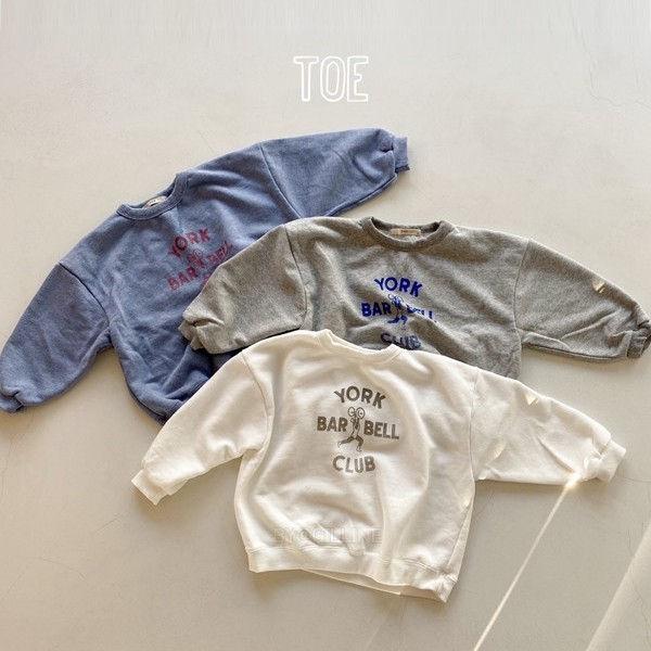 TOE - BRAND - Korean Children Fashion - #Kfashion4kids - Barbell Man-To-Man T