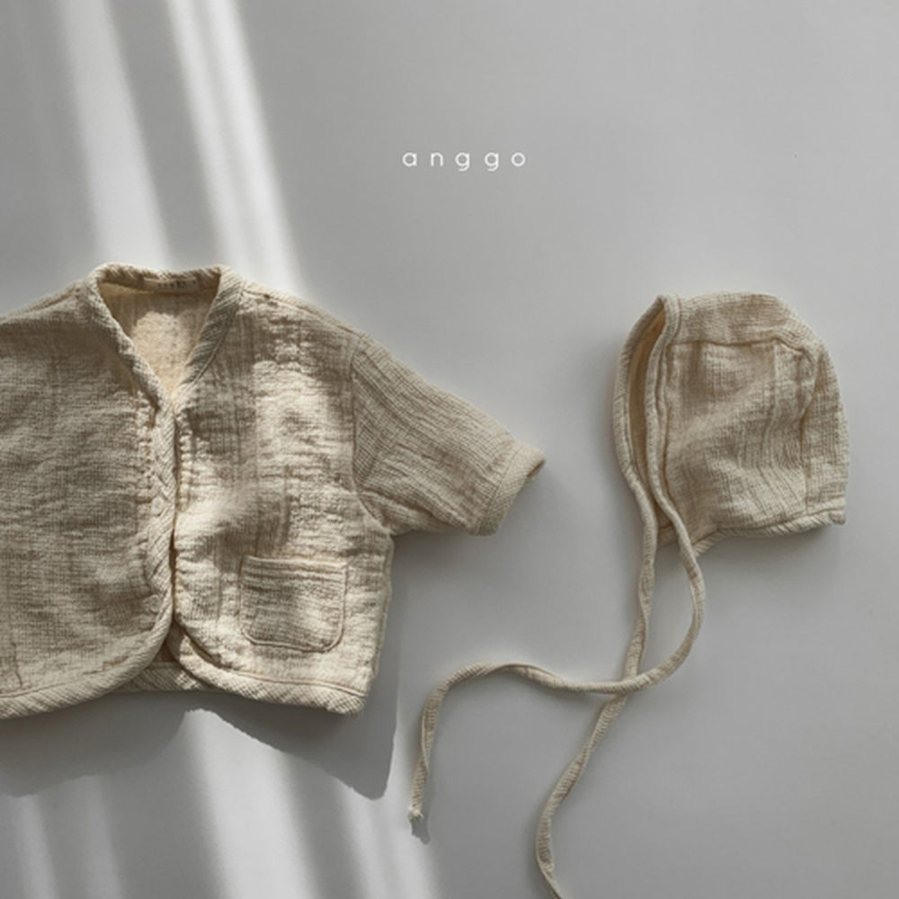 ANGGO - Korean Children Fashion - #Kfashion4kids - Bebe Whipping Cardigan - 2