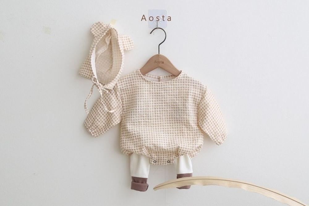 AOSTA - BRAND - Korean Children Fashion - #Kfashion4kids - Mickey Bodysuit with Bonnet