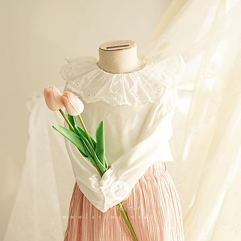 ARIM CLOSET - BRAND - Korean Children Fashion - #Kfashion4kids - Lovely Lace Frill Collar Blouse