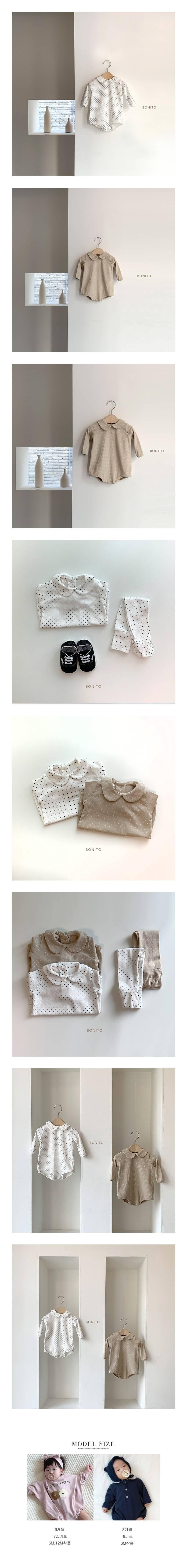 BONITO - Korean Children Fashion - #Kfashion4kids - Flat Dot Bodysuit