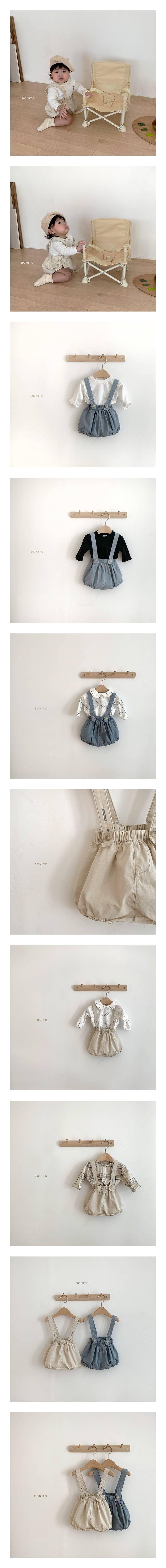 BONITO - Korean Children Fashion - #Kfashion4kids - Groomi Suspender Bloomer