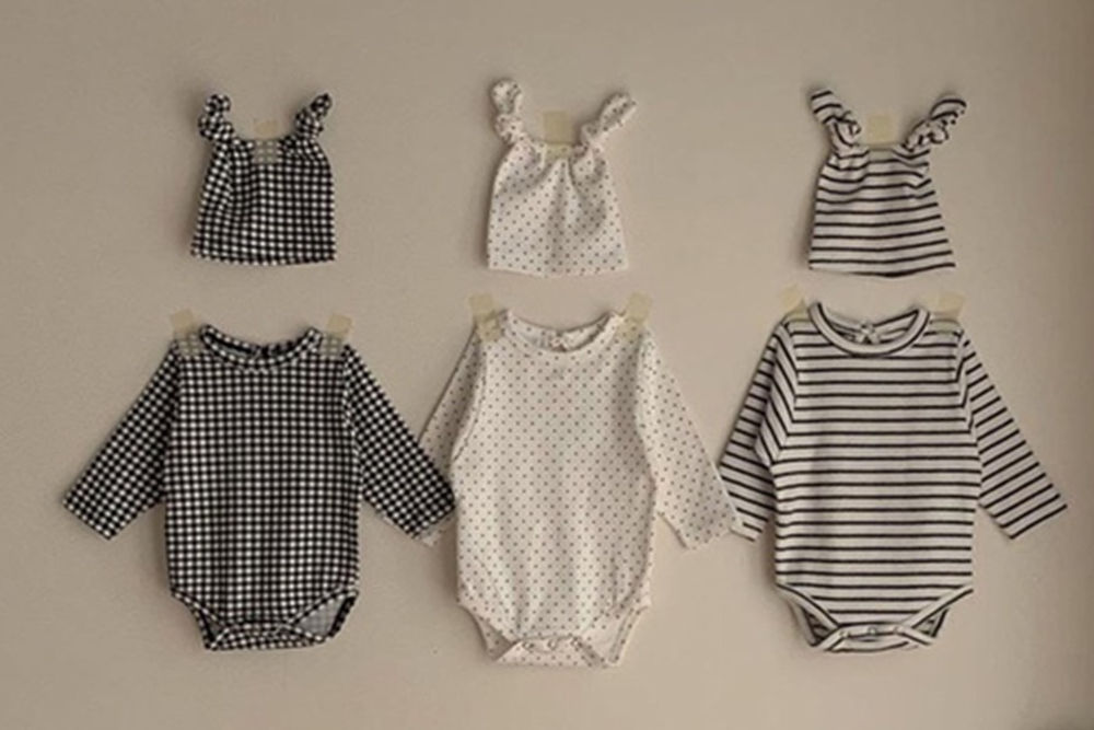 CIEL DE MAMAN - BRAND - Korean Children Fashion - #Kfashion4kids - Blanc Bodysuit with Bonnet