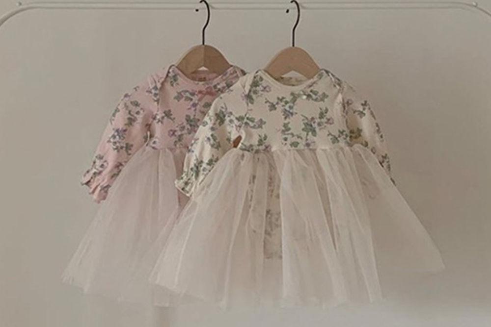 CIEL DE MAMAN - BRAND - Korean Children Fashion - #Kfashion4kids - Flower Ballet Bodysuit with Leggings & Bonnet