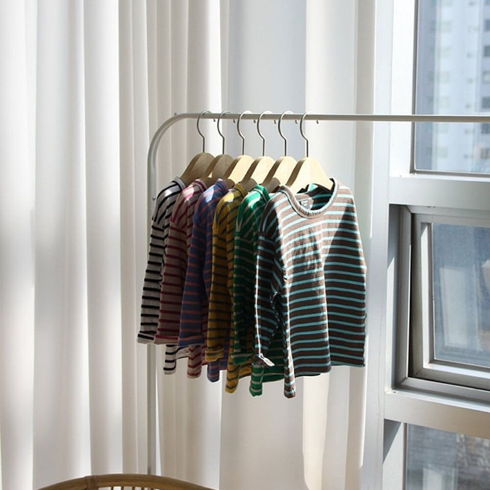 CREAMCOK - BRAND - Korean Children Fashion - #Kfashion4kids - Horizontal Stripe Tee