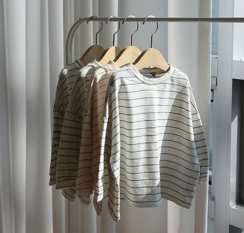CREAMCOK - Korean Children Fashion - #Kfashion4kids - Bold Stripe Tee