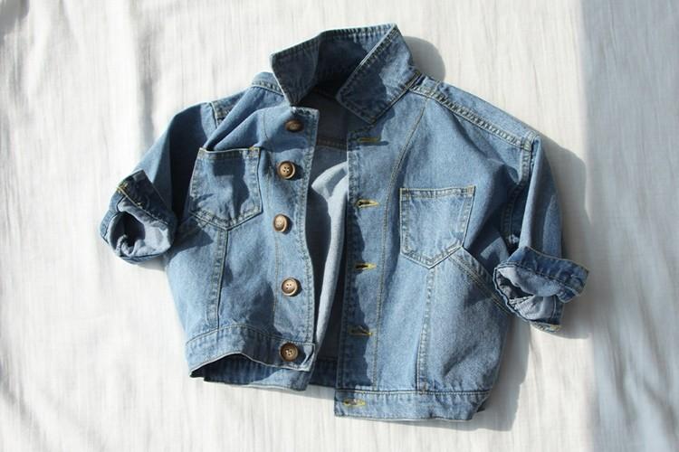 CREAMCOK - BRAND - Korean Children Fashion - #Kfashion4kids - Maroon Denim Jacket