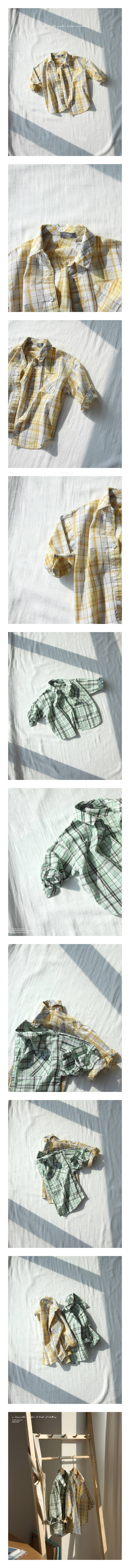 CREAMCOK - Korean Children Fashion - #Kfashion4kids - Fresh Check Shirts
