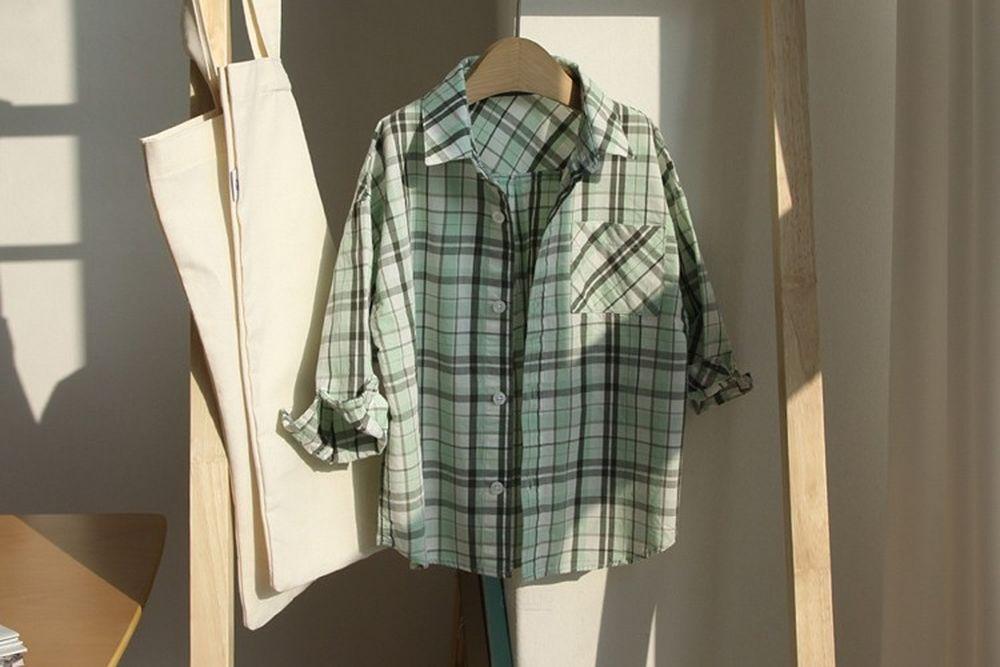 CREAMCOK - BRAND - Korean Children Fashion - #Kfashion4kids - Fresh Check Shirts