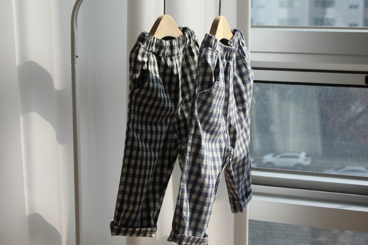 CREAMCOK - BRAND - Korean Children Fashion - #Kfashion4kids - Chess Check Pants