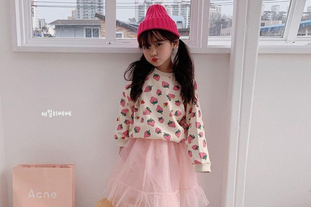 DAILY BEBE - BRAND - Korean Children Fashion - #Kfashion4kids - Spring Strawberry MTM