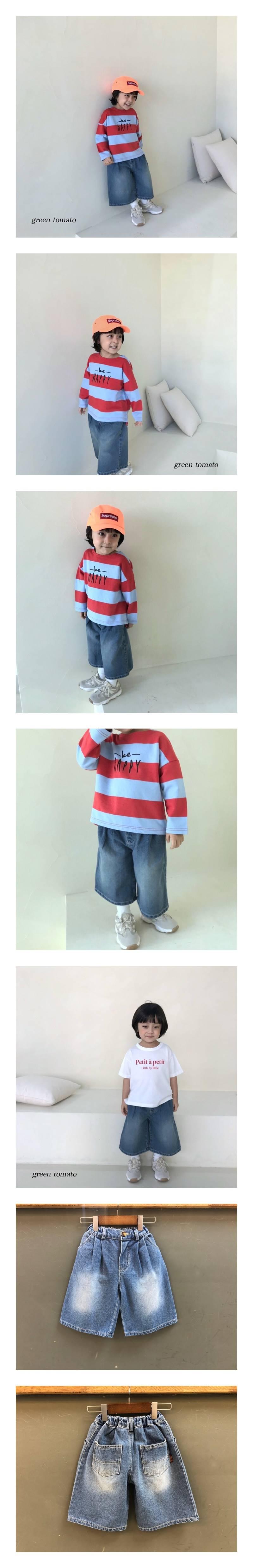 GREEN TOMATO - Korean Children Fashion - #Kfashion4kids - Pleats Denim Pants