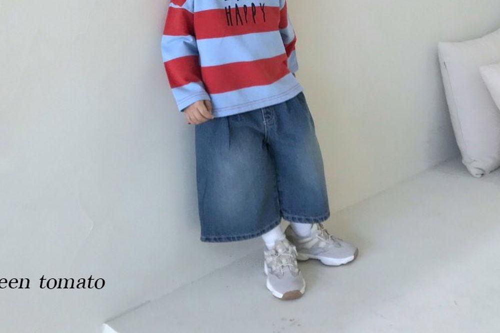 GREEN TOMATO - BRAND - Korean Children Fashion - #Kfashion4kids - Pleats Denim Pants
