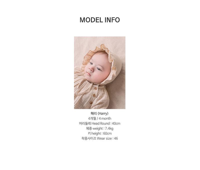 HAPPY PRINCE - Korean Children Fashion - #Kfashion4kids - Lulu Organic Baby Bonnet - 5