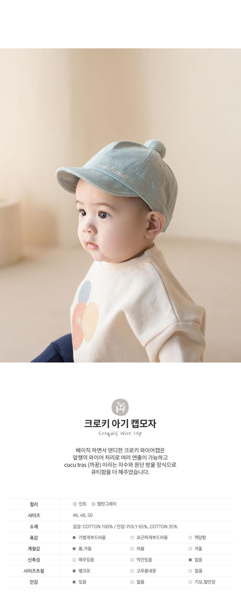 HAPPY PRINCE - Korean Children Fashion - #Kfashion4kids - Croquis Wire Cap