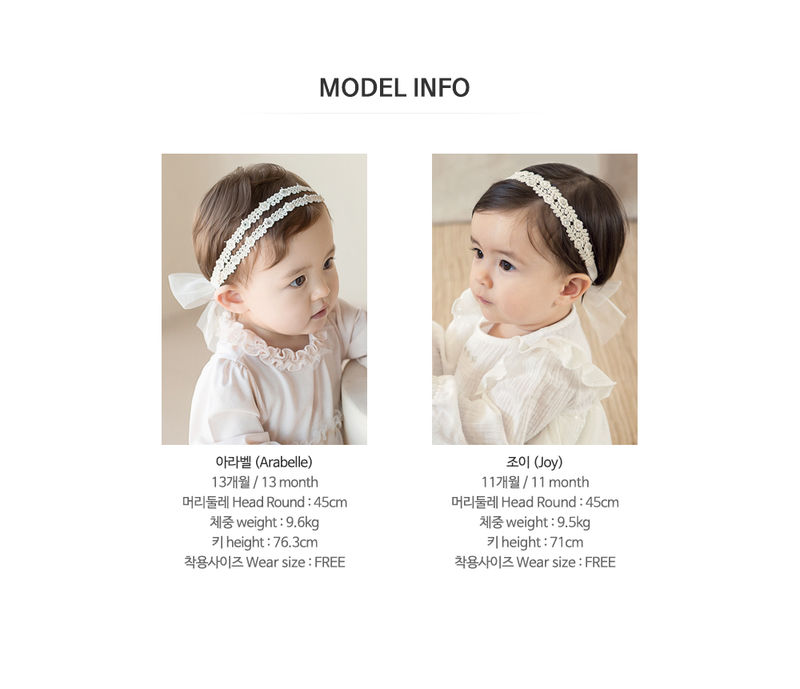 HAPPY PRINCE - Korean Children Fashion - #Kfashion4kids - Babara Lace Band [set of 5] - 10