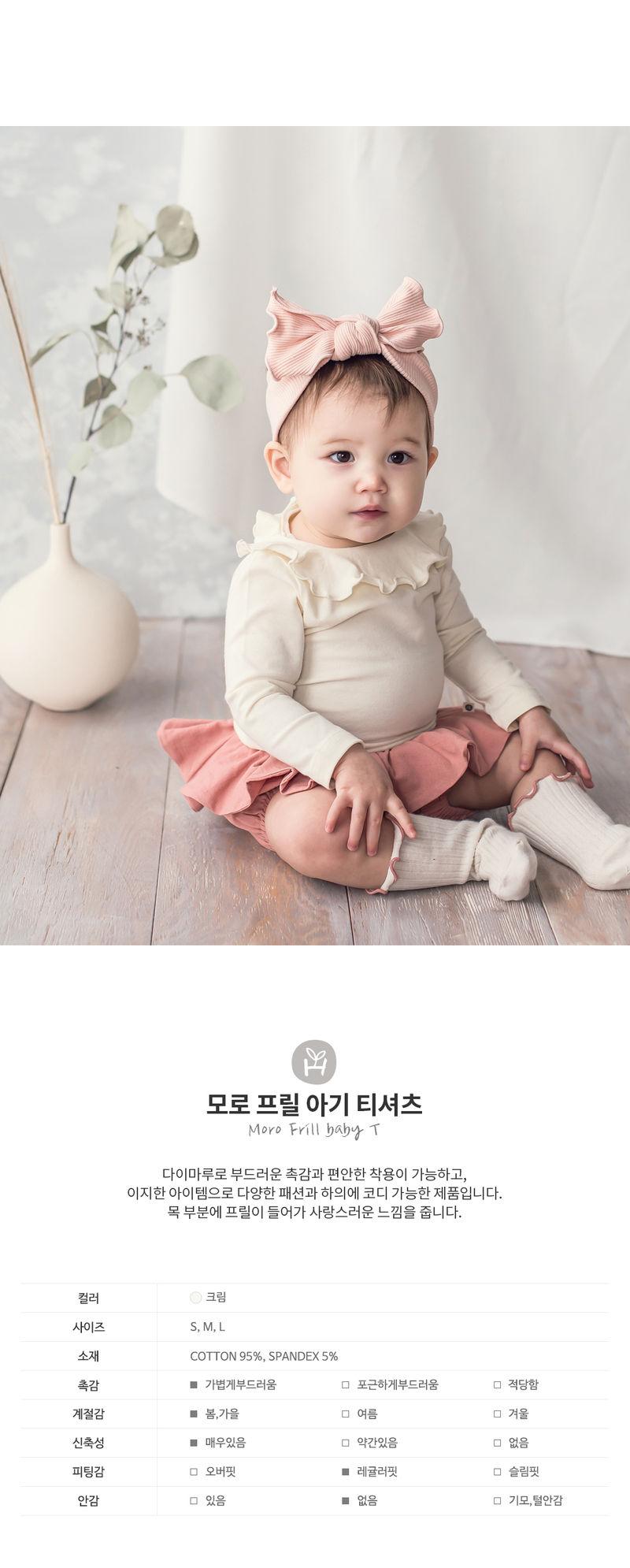 HAPPY PRINCE - Korean Children Fashion - #Kfashion4kids - Moro Frill Baby T