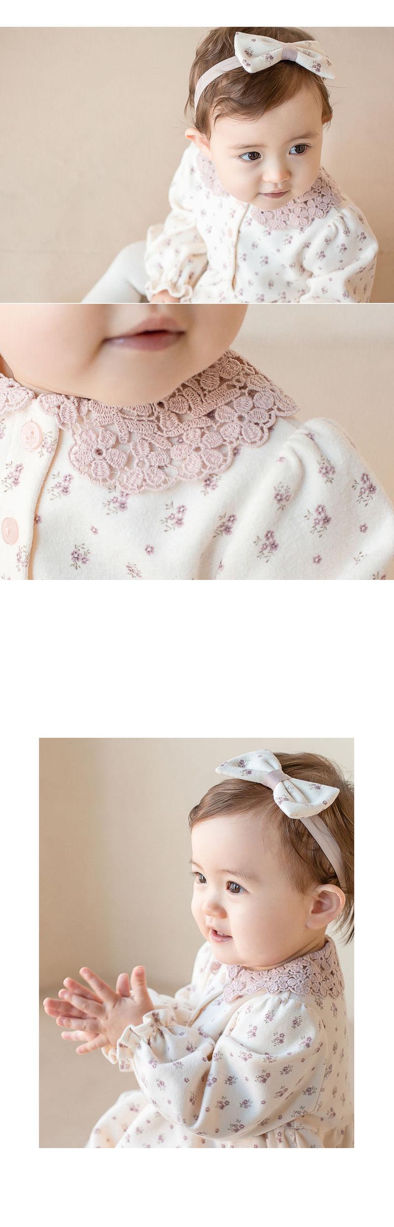 HAPPY PRINCE - Korean Children Fashion - #Kfashion4kids - Vane Body Suit + Hairband - 2