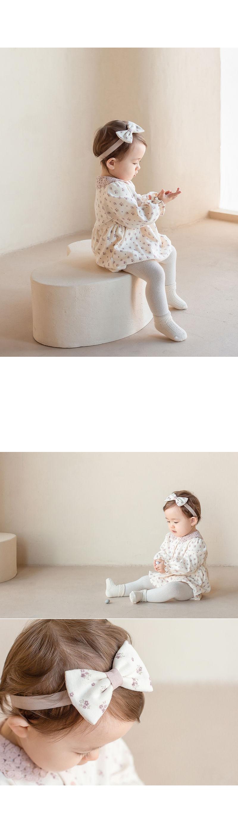 HAPPY PRINCE - Korean Children Fashion - #Kfashion4kids - Vane Body Suit + Hairband - 3