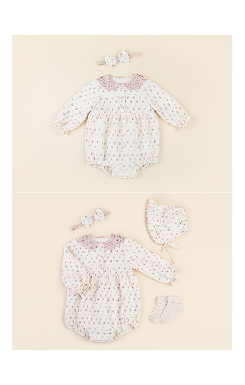 HAPPY PRINCE - Korean Children Fashion - #Kfashion4kids - Vane Body Suit + Hairband - 4